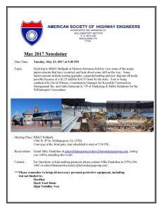 ASHE Williamsport May 2017 Newsletter